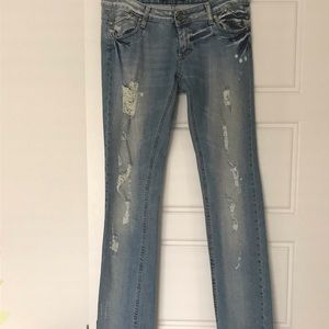 PLEASE Brand Made in Italy Ripped Jeans